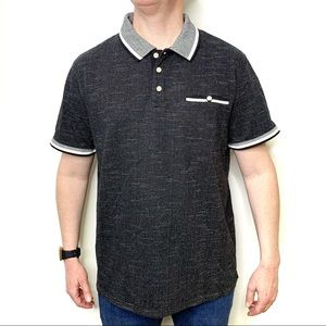 GOODFELLOW & CO Men's Black & White Polo Shirt XL